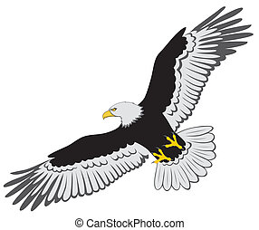Eagle - Abstract vector illustration of eagle