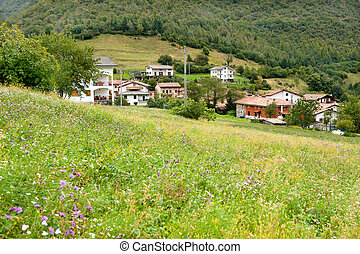 Little village in the Italian Lombardy