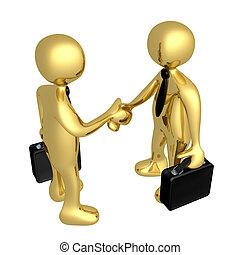 Business Deal - Computer Generated Image - Business Deal