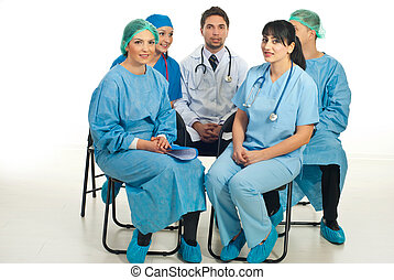 Doctors preparing for conference
