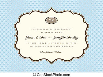 Vector Pastel Blue Frame and Background - Vector ornate...