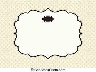 Vector Decorative Frame and Background