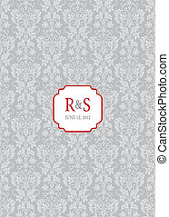 Vector Mini Red Ornate Frame