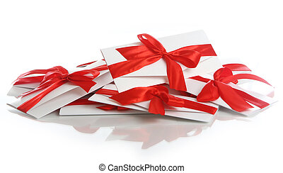 Gift envelope with awesome red bow - Gift envelopes with...