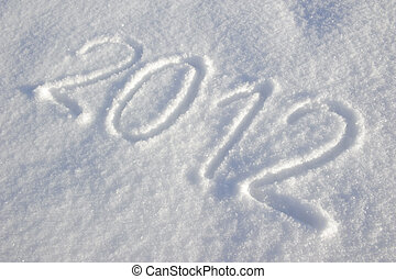 happy new year 2012 written in snow