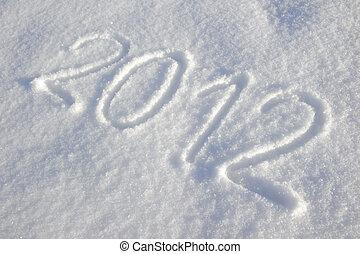 szczęśliwy, nowy, rok, 2012