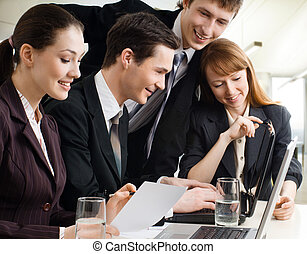 business people - working team of successful young business...