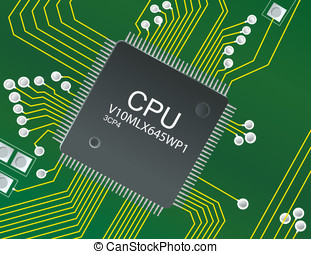 CPU Circuit board - Illustration of CPU circuit Board