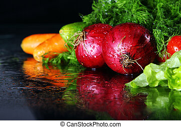Fresh vegetables - Fresh and wet vegetables