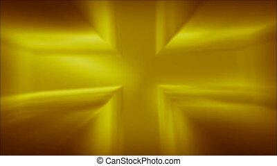 Metallic Cross Golden Loop HD