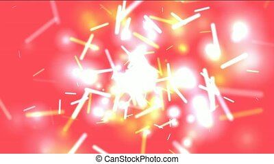 red swirl lights,dazzling sticks and particle flying,,splash...