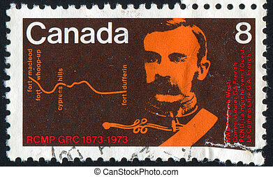 stamp - CANADA - CIRCA 1973: stamp printed by Canada, shows...