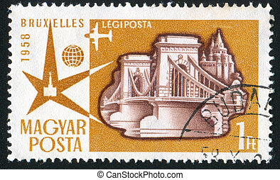 stamp - HUNGARY - CIRCA 1957: stamp printed by Hungary,...