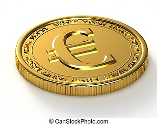 Golden Euro - Gold coin with the image of the euro.