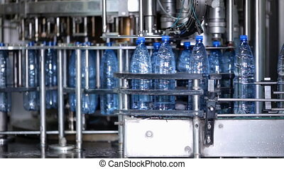 Water factory - Bottling machine in water factory
