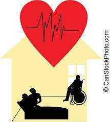 Palliative, cuidado, hogar