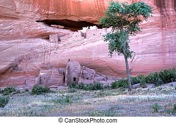 White House Ruins - White house ruins in the Canyon de...