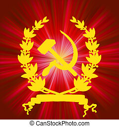 Soviet communistic background. EPS 8 vector file included
