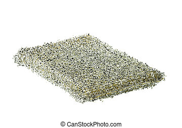 Dish Scrubber Isolated - Isolated image of a dish scrubber.