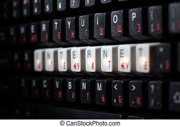 keyboard internet key macro close up