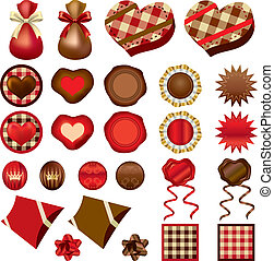 Chocolate ornaments set