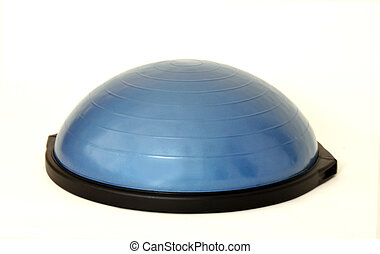 Bosu ball fitness ball on a white background