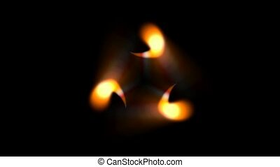 rotation dots fire,glowing microbe underwater,comma shape...