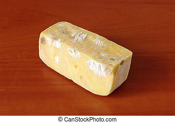 Old rotten inedible cheese rubbish