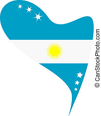 argentina in heart flag argentina - argentina in heart. Icon...