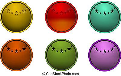 Round star button