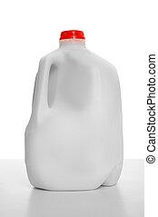 Milk Carton - 1 Gallon of Milk in a milk carton on a shiny...