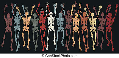 Skeletons together
