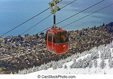 Going up the mountain - Cable railway in Mount Otto,...