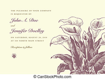 Vector Iris Wedding Background - Vector ornate floral frame...