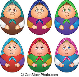 Dolls matreshka, set - Dolls matreshka, Russian traditional...