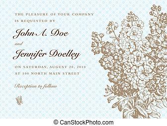 Vector Blue Pastel Bouquet Background