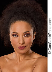 Multiracial beauty, ethnic black and Spanish mix - Mid adult...