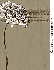 Vector Distressed Floral Background