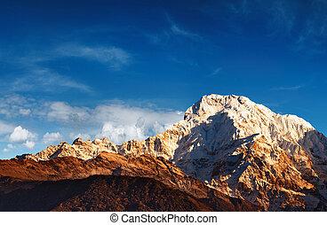 Annapurna South at sunrise, Nepal