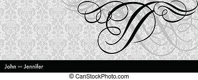 Vector Black Swirl Ornament Frame - Vector ornate frame....