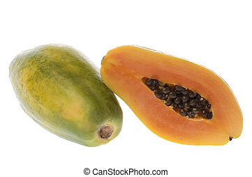 Papayas Isolated - Isolated image of Malaysian papayas