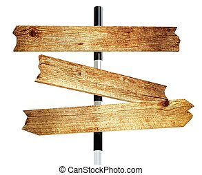 Wooden signpost 3d rendered for commercial and web
