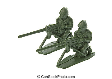 Toy Soldiers Isolated