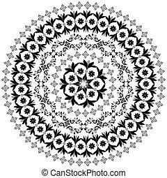 Extracto, circular, patrón, Arabesques