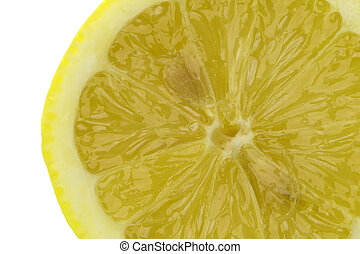 Sliced Lemon Macro Isolated - Isolated macro image of a...