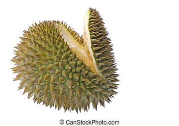 Durian Isolated - Isolated image of a Durian, the King of...