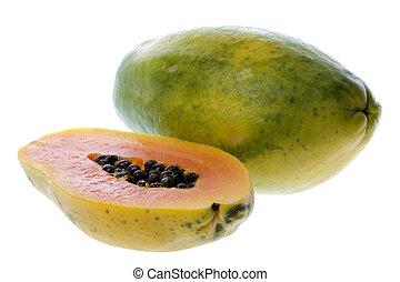 Papayas Isolated - Isolated image of Malaysian papayas.