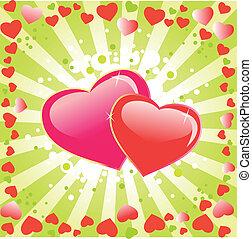 Valentines day background.Love.