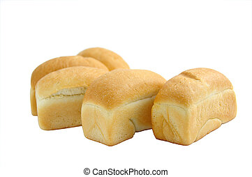 white bread - loaves of white bread isolated on white...