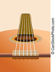 Guitar - Musical instruments Six-string guitar on the...